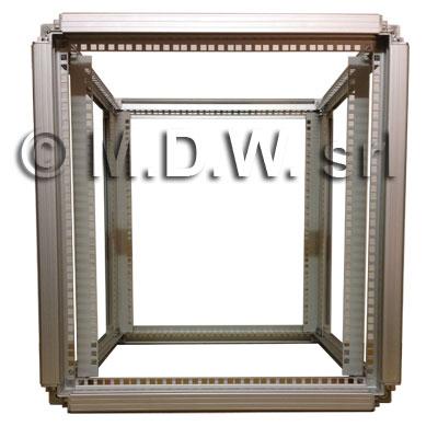 telaio rack in alluminio larghezza 600 mm