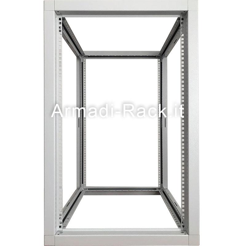 Telai modulari in acciaio con fori passo rack