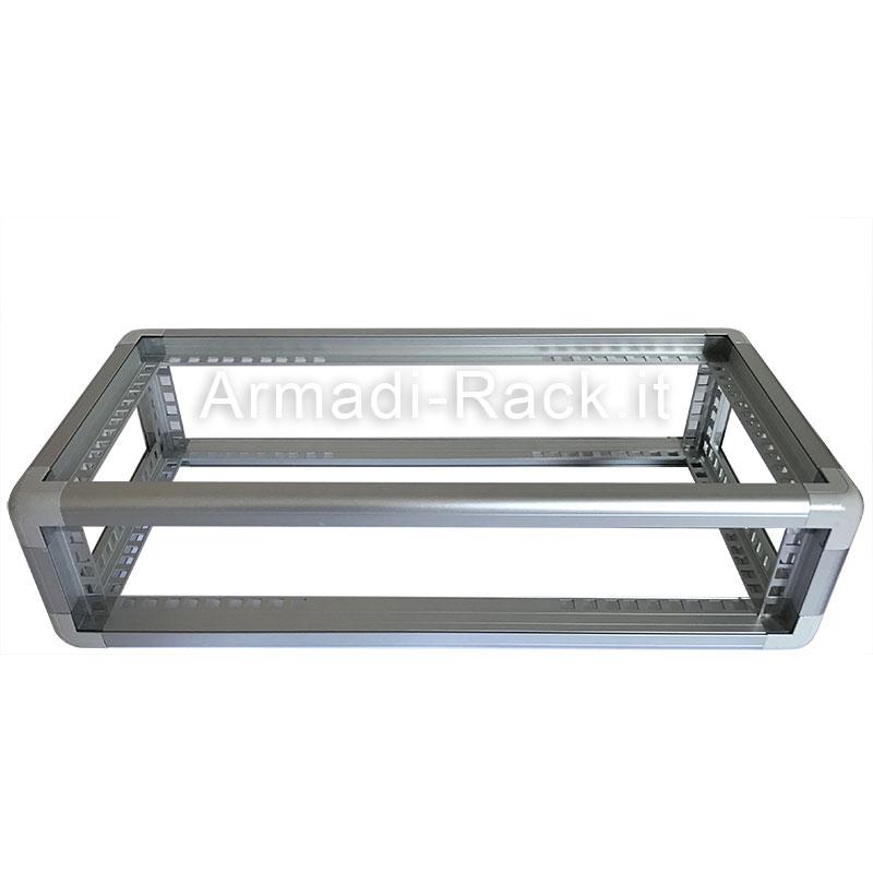 "telaio rack 19"" 2U profondo 25 cm"